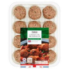 Tesco 12 Lamb And Herb Meatballs 336G