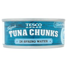 Tesco Tuna Chunks Spring Water 160G