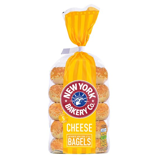 New York Bakery Cheese Bagels 5 Pack