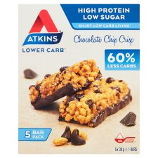 Atkins Chocolate Chip Crisp Bars 5 X 30G