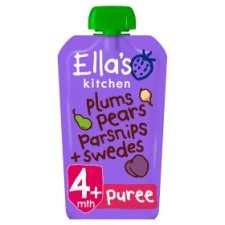 Ella's Kitchen Plums Pears Parsnips Plus Swede Stage 1 X 120G