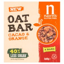 Nairns Gluten Free Oat Bar Cacao & Orange 160G