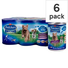 Butchers Meaty Chunks In Jelly Dog Food 6 X400g