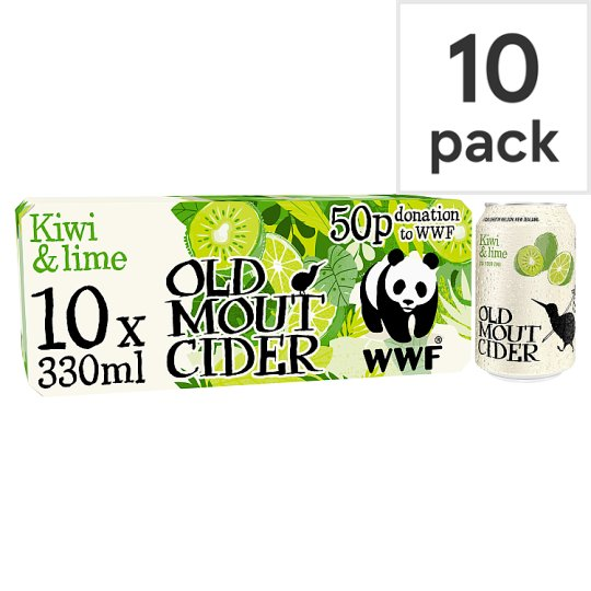 Old Mout Kiwi And Lime Cider 10X330ml Can