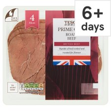 Tesco 4 Roast Beef Slices 100G