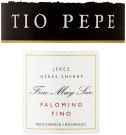 Label for Gonzalez Byass Tio Pepe Palomino Fino Sherry 750ml