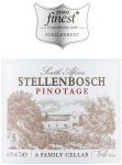 Label for Tesco finest* Swartland Pinotage 75cl