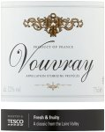 Label for Tesco Vouvray 75cl