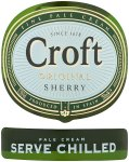 Label for Croft Original Sherry Fine Pale Cream 750ml