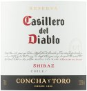 Label for Casillero del Diablo Shiraz 75cl