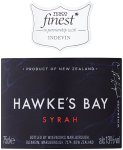Label for Tesco *finest Hawke's Bay Syrah 75cl