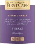 Label for First Cape First Selection Shiraz 750ml