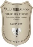Label for Valdobbiadene Prosecco Superiore Docg Extra Dry Ca'Val 75cl