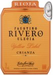 Label for Faustino Rivero Ulecia Rioja Crianza Yellow Label 75cl
