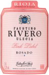 Label for Faustino Rivero Ulecia Pink Label Rosado 75cl