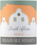 Label for Higgovale Heights Shiraz 75cl