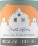 Label for Higgovale Heights Shiraz Mourvedre Viognier 75cl