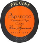 Label for Piccini Prosecco Vino Spumante Extra Dry 750ml