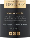 Label for First Cape Special Cuvée Cabernet Sauvignon 750ml