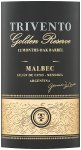 Label for Trivento Golden Reserve Malbec 75cl
