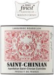 Label for Tesco finest* Saint Chinian 75cl