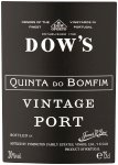 Label for Dow's Quinta Do Bomfim Vintage Port 2004, Portugal